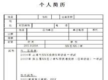 2013小升初简历模板下载之一
