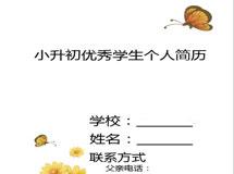 2013小升初简历封面之一